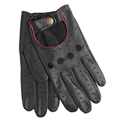 Best Driving Gloves In The World - Dents Men's Delta Leather Driving Gloves (Red)