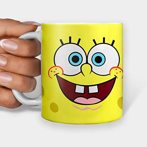 Tasse mit Spongebob-Gesicht, lustige Tasse, Kaffeetasse, Teetasse, Internet, Meme, Tasse (325 ml)