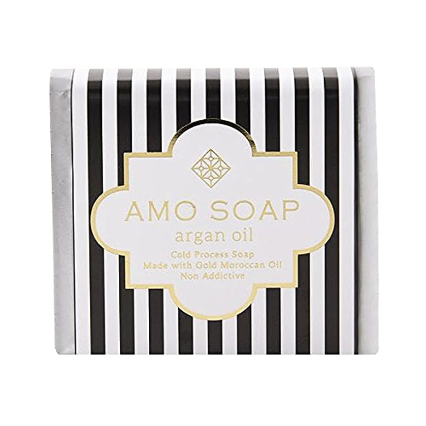 そこからスチュアート島マチュピチュAMO SOAP(アモソープ) 洗顔せっけんアルガンオイル配合 1個 コールドプロセス製法 日本製 エイジングケア オリーブオイル シアバター