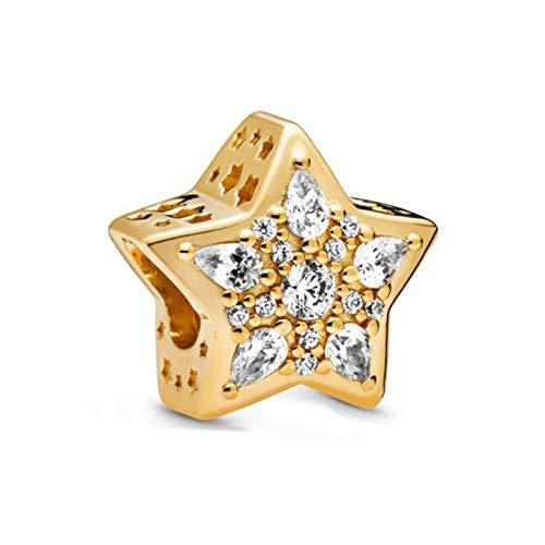 LILIANG Joyería De Bricolaje Moda Brillante Charm Shine Star Charms Beads Fit Pandora Original Pulseras Mujeres