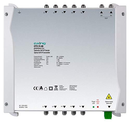 Axing OTX 51-00 Optischer Sender für Quattro-LNB u. Terrestrik Glasfaser SC/APC
