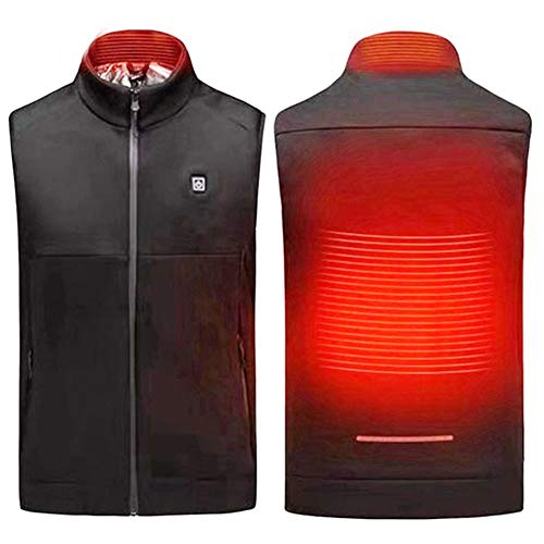 WERFFT USB Warme jas Vest Outdoor Sports Skiën Alpinisme Verwarming Vest Maat (L-4XL)