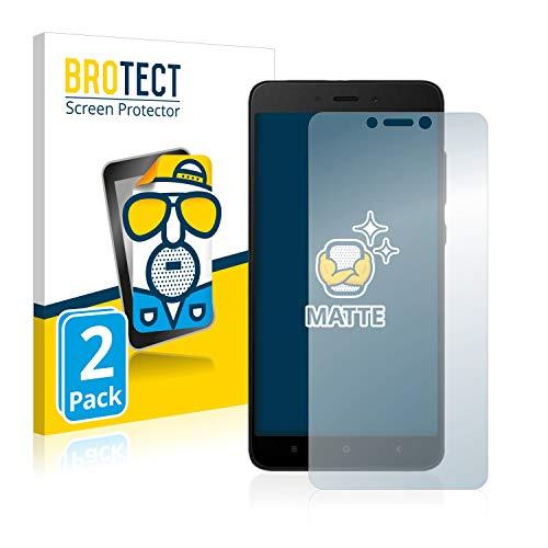 BROTECT Protector Pantalla Anti-Reflejos Compatible con Xiaomi Redmi Note 4X (2 Unidades) Pelicula Mate Anti-Huellas