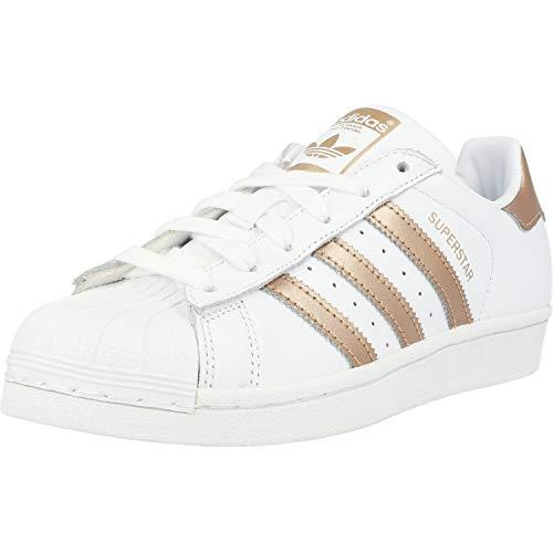 adidas Superstar W, Scarpe da Ginnastica Donna, Bianco (Ftwr White/Copper Met./Core Black Ftwr White/Copper Met./Core Black), 36 EU