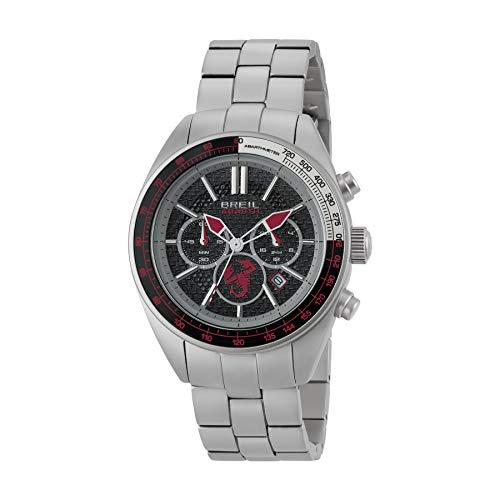 FCA Abarth BREIL Herren-Armbanduhr mit rotem und schwarzem Zifferblatt, Chrono-Quarzuhrwerk, Armband aus Stahl 6002350860