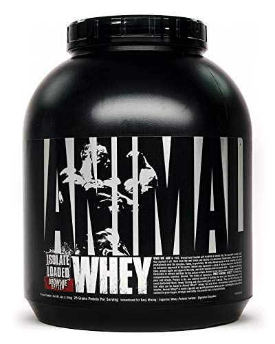 Animal Whey Isolate Whey Protein Powder – Isolate Loaded for Post Workout and Recovery – Low Sugar with Highly Digestible Whey Isolate Protein - Brownie Batter - 4 Pounds