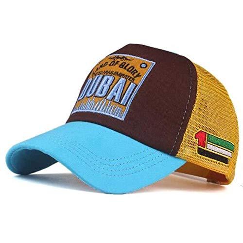 AJSJ Atmungsaktive Patch Letters Stickerei Dubai Baseball Cap Spring Sommer Baumwollhüte Für Frauen Männer Peaked Cap, Sky Blue, 可 调节