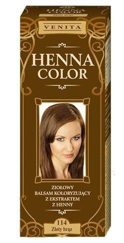 Henna Color 114 Gold Braun Haarbalsam Haarfarbe Farbeffekt Naturhaarfärbemittel Henne Öko