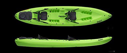 EXO Shark 2 Sport, Kayak da Mare Sit On Top Unisex-Adulto, Rosso, 410 cm