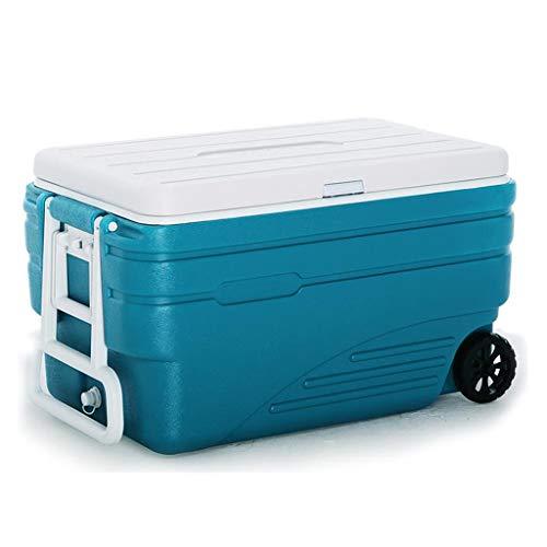 Neveras Caja más Fresca Camping Caja de la Carretilla de la Rueda de Picnic Caja del refrigerador de Gran Capacidad 100L Cadena de Frío Pesca de Transporte for Llevar Incubadora al Aire Libre