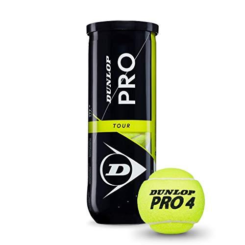 Dunlop Unisex-Erwachsene Pro Tour Bote 3 Tennisball, gelb