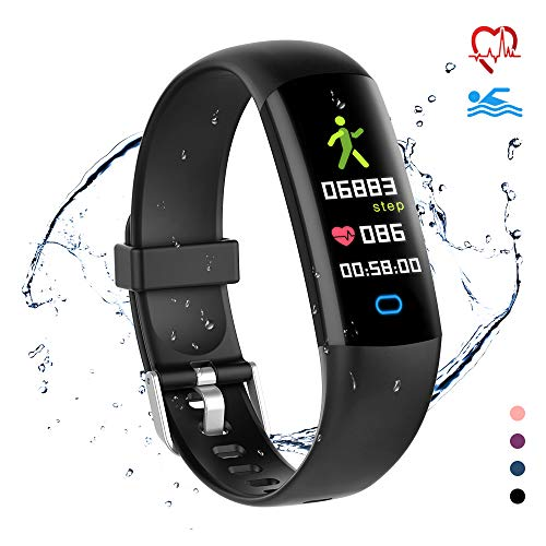 YoYoFit Lod Kids Fitness Tracker with Heart Rate Monitor,Swimproof Activity Tracker Smart Watch Sleep Monitor Calorie Pedometer Smart Band Fitness Watch with 5 Sport Modes for Children Boys Grils
