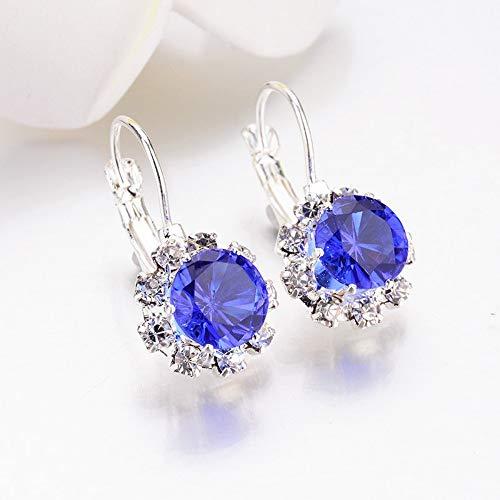 CJMDEH Pendientes Grandes Piedras Preciosas Rhinestone Earring Cristal Venta Bella Y Graciosa Regalo Boda Accesorio De Joyas