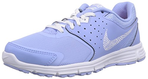 Nike Revolution EU - Zapatillas de running para mujer, color gris / blanco, Aluminum/White-Bright Crimson 400, 37.5