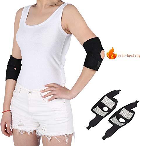 1 par Codera para Arthritis Protector autocalentamiento turmalina soporte de codo almohadilla ortopédica