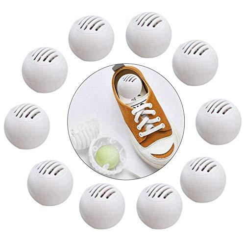 aheadad - Purificador de Aire con Olor a Pelota Desodorante de eliminación para Zapatos, Zapatos, gabinetes de Zapatos, purificador Natural, no químico (10 Unidades)