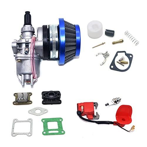 Carburadores para Bicicleta Bolsillo para Motor De 47cc 49cc Carburador con Pod Air para Filtro De 2 Tiempos para M&ini Quad ATV Dirt Bike para MiniMoto Go Kart Buggy Moto Carburadores (Color : R)