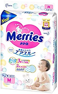 Merries Diapers Size M for 6-11 kg, 64 + 4pcs
