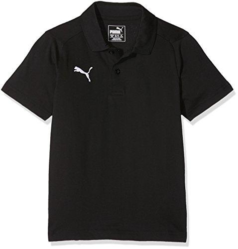 PUMA Kinder Liga Casuals Polo Jr Poloshirt, Puma Black-Puma White, 164