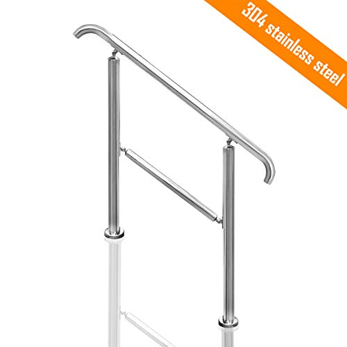 Adjustable Handrail Stair Railing for Outdoor Steps (3-Step Style 2)