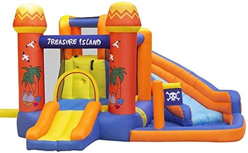 JCCOZ-URG Kids Bouncy Castle Inflatable Castle Children's Trampoline Home Slide Indoor and Outdoor Inflatable Castle Inflatable Bouncer Bounce House (340*330*195cm) URG