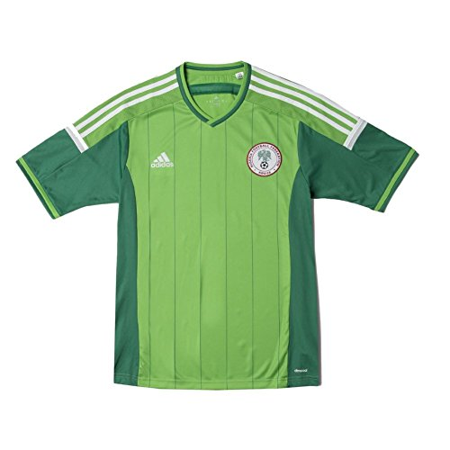 adidas New Men's 2014 Nigeria Soccer Jersey Intense Green/White/Twilight Green X-Large