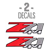 Z71 4x4 Decals 2007-2013 for Chevrolet Silverado 1500 2500 2PCS Red