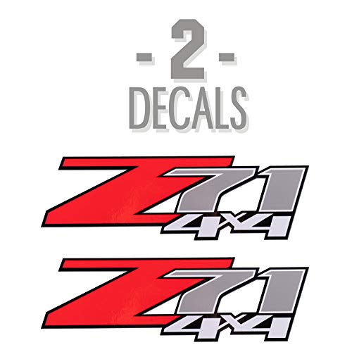 Z71 4X4 데칼 2007-2013 시보레 실버라도 1500 2500 2 개 레드
