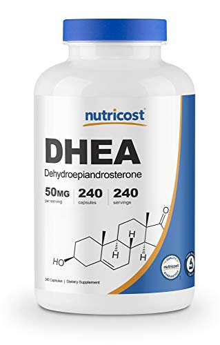 Nutricost DHEA 50mg, 240 Capsules - Gluten Free, Soy Free, Non-GMO, Supplement