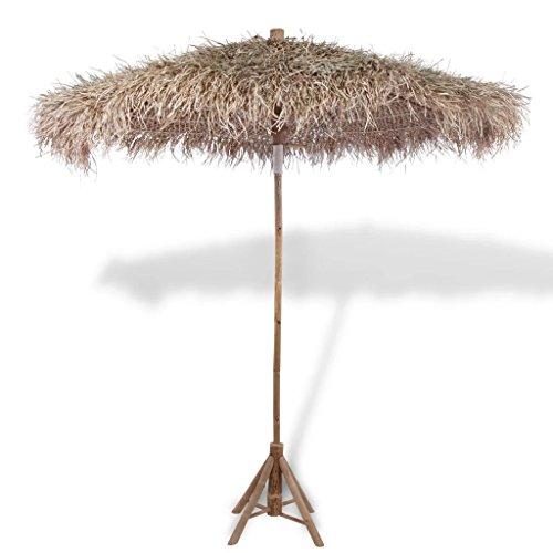 Tidyard Sombrilla de bambú con Hojas de Banana, 270 cm