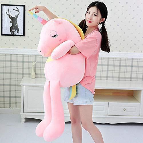 N / A Nuevos Juguetes de Peluche de Unicornio Cute Rainbow Horse Pillow Doll Animal de Peluche Juguetes Suaves para niños Regalo para Novia 60 cm