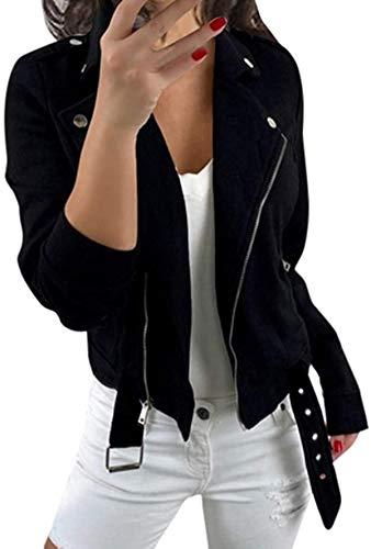 SteCury Womens Retro Button Pockets Bomber Jacket Coat Outwear
