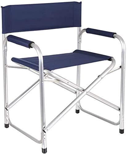 Silla Camping Aluminio Plegable Silla Director Azul Marino 57 X 45 X 78 cm