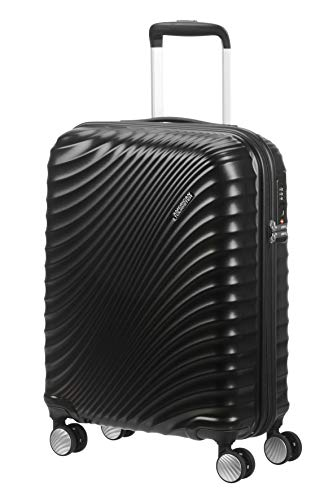 American Tourister Jetglam Spinner S Bagaglio a Mano, 55 cm, 35.5 litri, Nero (Metallic Black)