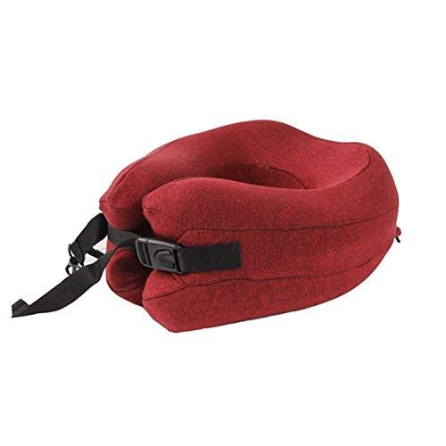 Almohada cervical Ajustable plegable en forma de U del cuello de la barbilla de soporte de amortiguador de espuma de memoria de viaje cuello almohada for dormir en la oficina Coche Avión sleep confort