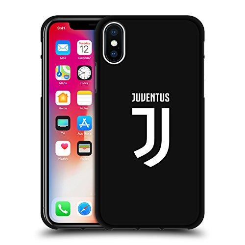 Offizielle Juventus Football Club Einfarbig Verschiedene Designs Schwarze Soft Gel Handyhülle Hülle Huelle kompatibel mit Apple iPhone X/iPhone XS