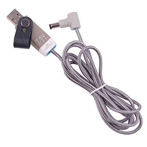 MyVolts Ripcord-USB-Ladekabel mit 7.5V DC Ausgangsstecker kompatibel mit Fujitsu ScanSnap S1300, S1300i, S1300N Scanner