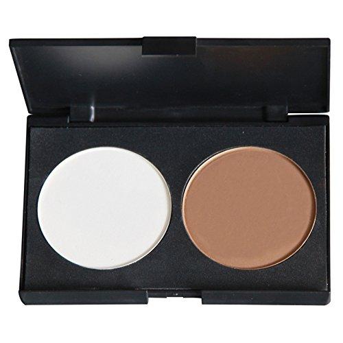 PhantomSky 2 Couleurs Palette de Maquillage Poudre pour le Visage Camouflage Cosmétique Set - Parfait pour une utilisation professionnelle et quotidienne