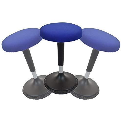 """Taburete ergonómico Sentado Activo, escritorio de pie taburete, color azul 13"""" Round Seat"""