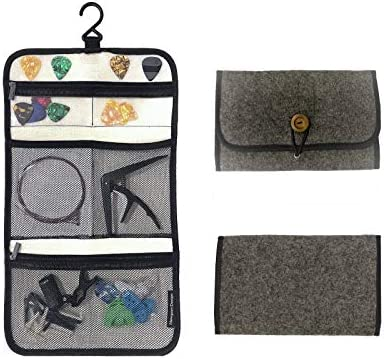 Newport Design Universal Guitar Accessory Organizer Foldable Felt Case for Travel Hangable with product image