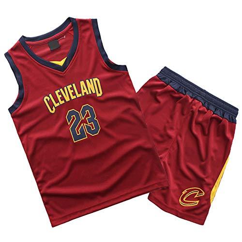 Gofei Sommer Basketball T-Shirt Kurze Hose Lakers/Cavs 23# James Trikots Basketball Uniform Klassisches Basketballhemd Top & Shorts
