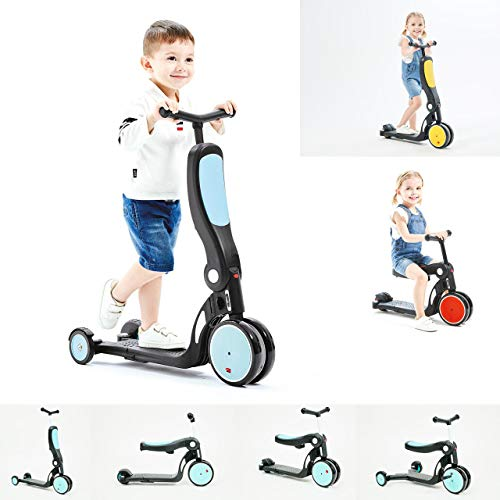 Chipolino Kinderroller, Dreirad, Laufrad, All Ride 4 in 1 höhenverstellbar, Farben:blau