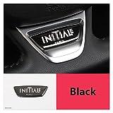GUANGGUANG Heartwarming Shop Pegatina de la decoración Interior del Volante Fit for Renault Megane 2 3 4 Captur Clio Scenic Kodjar Kadjar QM5 QM6 Accesorios de Coche (Color Name : Black)