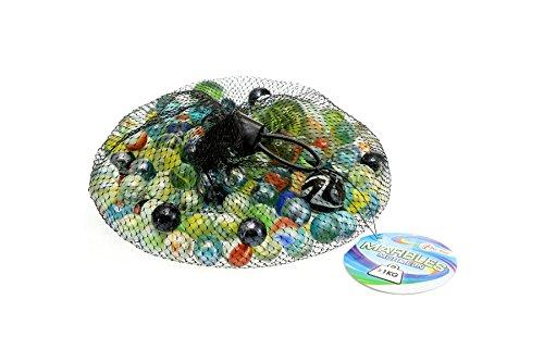 Toi-Toys–Marmor Odysseus 1000g im Netz Sortiert Spiel Bälle und Luftballons, 60820A, Mehrfarbig