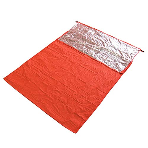 HWCP.CP Sac De Couchage Extérieur Étanche Couchage Double Enveloppe Épaisse Extérieure Orange 200X145cm