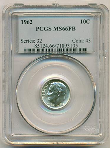 1962 Roosevelt Dime MS66 FB PCGS