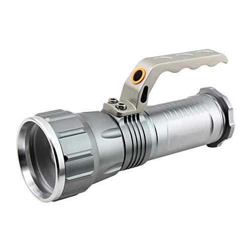 ZLQBHJ Linternas, Manual Portátil Linterna LED de 1000 lúmenes recargable Larga duración LED Reflector super brillante luz de las antorchas linterna de múltiples funciones impermeable