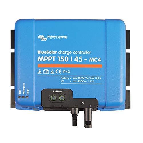 Victron Energy Bluesolar MPPT 150/45-MC4 12/24/48 V, 45 A, Solarladeregler VE Direct, 1 Stück, SCC010045300