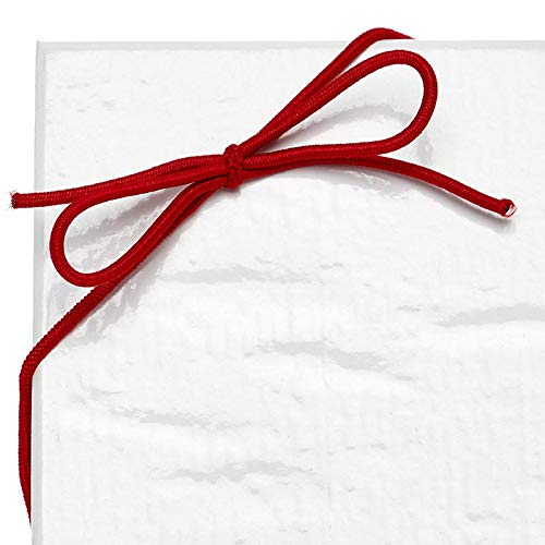 Paper Mart 8' Red Stretch Loops Elastic String Bows for Gift Wrapping, Pack of 1000