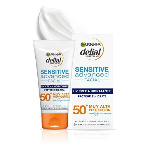Garnier Delial Sensitive Advanced Crema Facial Hidratante Alta Proteccion Solar IP50+ - 50 ml